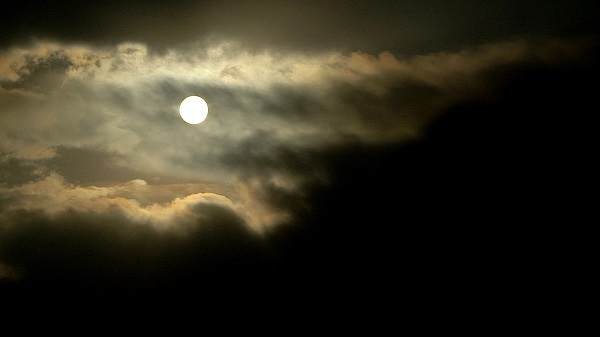 dark cloud and moon