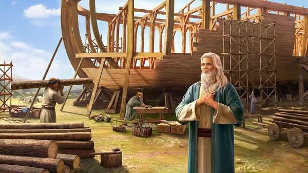 Noah and his sons build the ark