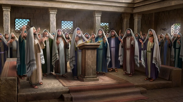 The Pharisees are looking forward to the coming of Messiah