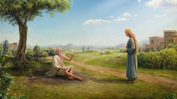 Job reprimanded his wife in trials