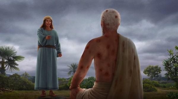 Job's wife asks him to abandon God