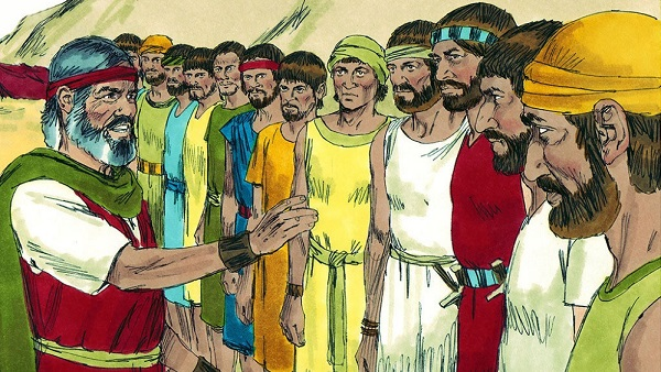 moses sent 12 people to spy out the land of canaan