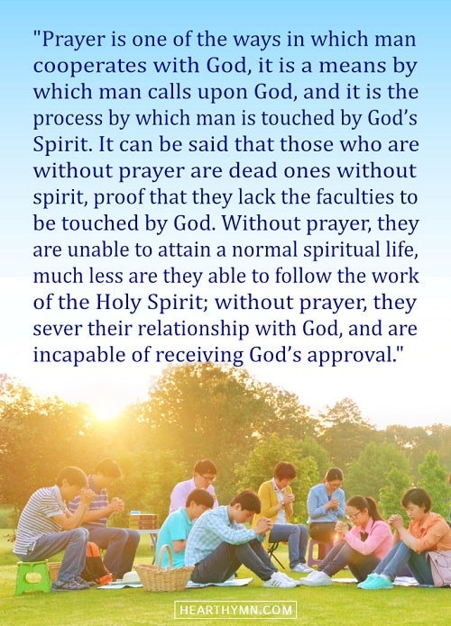 The Significance of Prayer - True Quote Image About Prayer