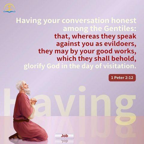 1 Peter 2:12 - Bible Verse Image