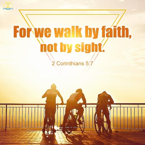 2 Corinthians 5:7 Bible Verse Image About Faith
