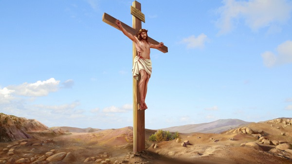 Jesus Christ was crucified on the cross