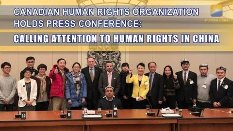 canadian human rights organization holds press conference calling attention to human rights in china