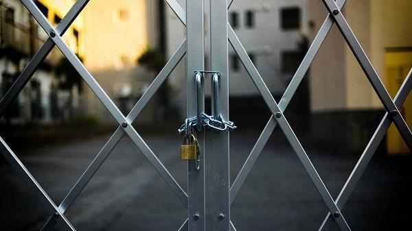 closed door locked