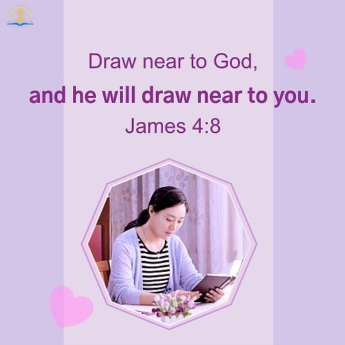James 4:8 Bible Verse Image About Relationship with God