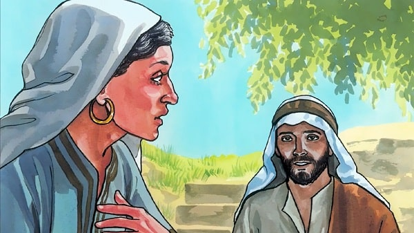 the samaritan woman shocked what Jesus said