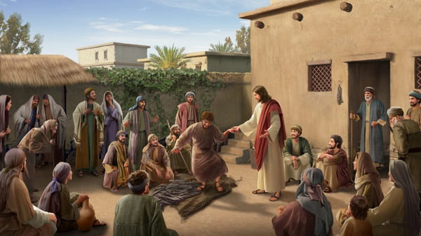 Jesus in the age of grace healed the blind