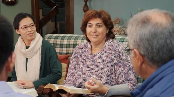 a bible study meeting