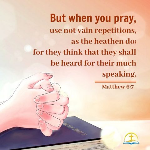 Matthew 6:7 - Bible Quote Image About Prayer