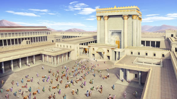 people in the age of law offered sacrificed to God in the temple