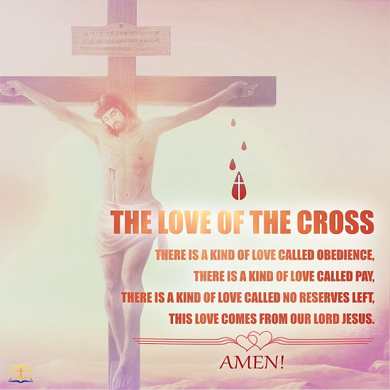 The Love of the Cross - Christian Inspirational Quote Image