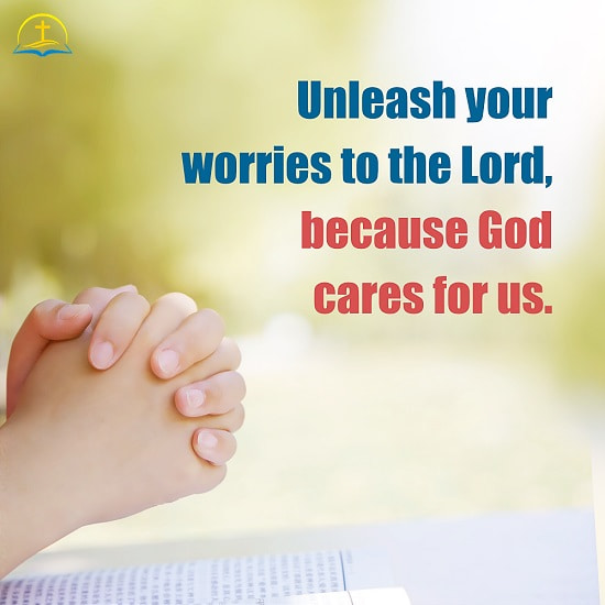 God Cares for Us - Christian Inspirational Quote Image