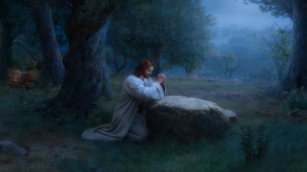Jesus prays in gethsemane