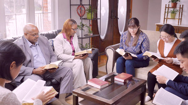 Christians gather to read the words of God
