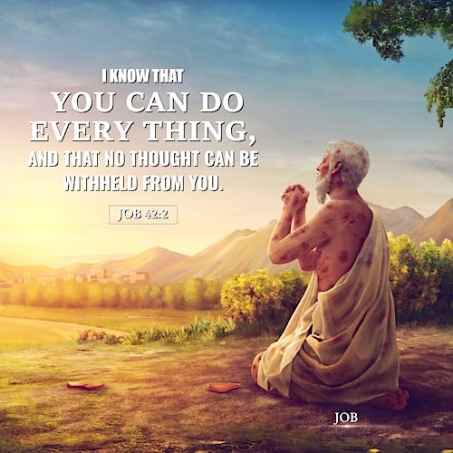 Job 42:2 - I Know That You Can Do Everything - Today's Bible Verse