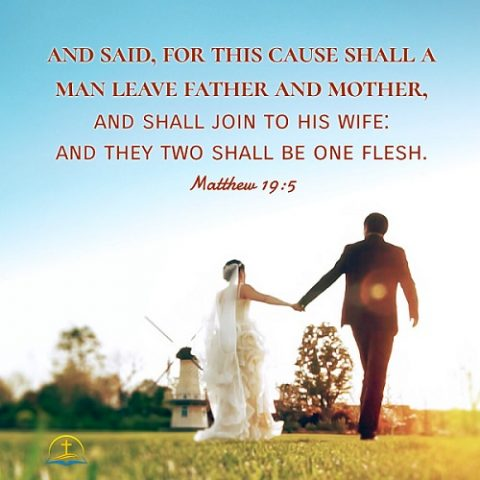 Leave Parents and Join to Your Spouse - Matthew 19:5 - Today's Bible Verse