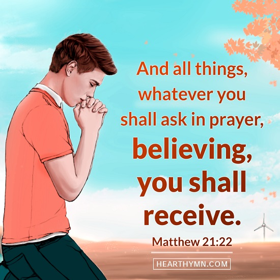 Matthew 21:22 - Encouraging Bible Verse Image