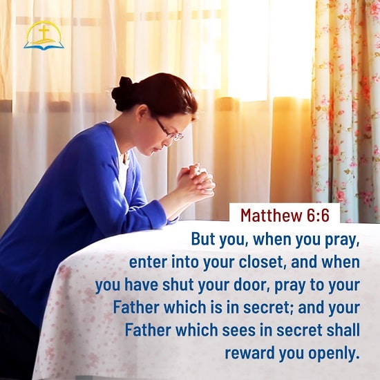 Matthew 6:6 - Bible Verse Image About Prayer