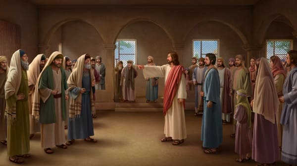 The Lord Jesus rebuked the Pharisees in the temple