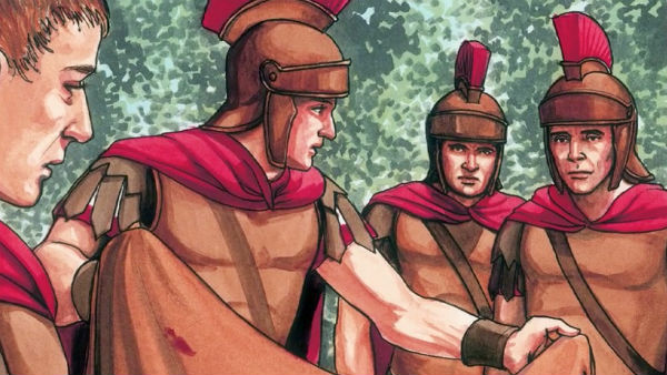 the soldiers took Jesus garments made four parts
