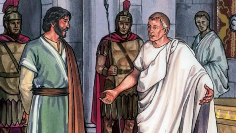 Jesus Christ before Pilate: Matthew 27:11-14