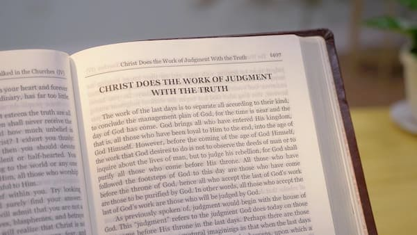 Open the Word of God about the page of judgment