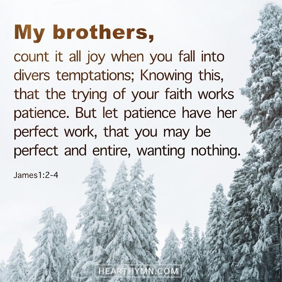 James 1:2–4 - Bible Quote Image About Temptations