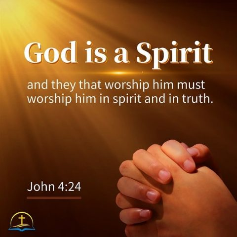 John 4:24–Bible Quote Image About Worshiping God