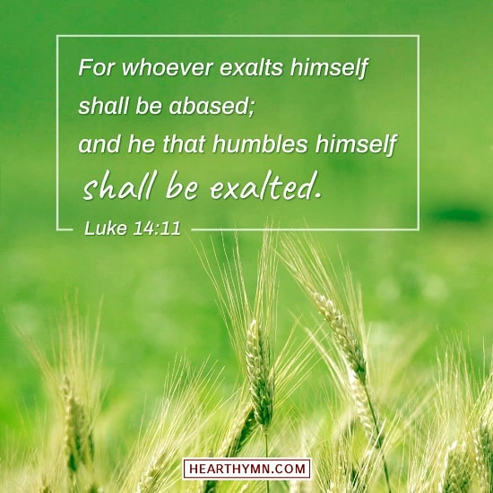 Luke 14:11 - Bible Verse Image About Self-importance
