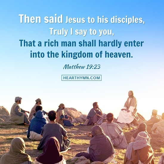 Matthew 19:23 - Bible Quote Image About Entering the Kingdom of God