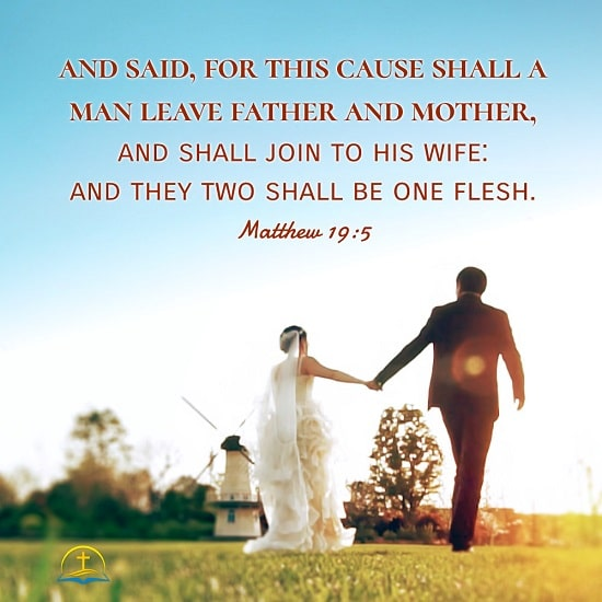 Matthew 19:5–Bible Quote Image About Marriage