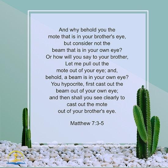 Matthew 7:3–5