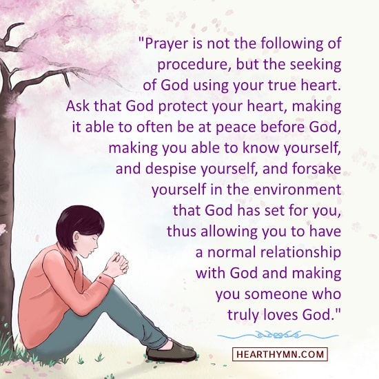 Prayer Is Done to Have a Normal Relationship With God