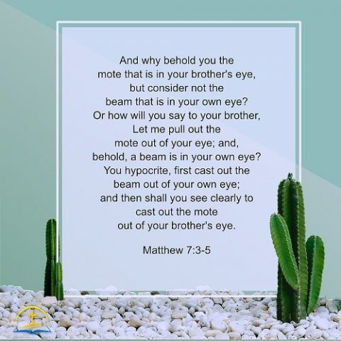 The Beam in Your Own Eye - Matthew 7:3–5 - Daily Devotional