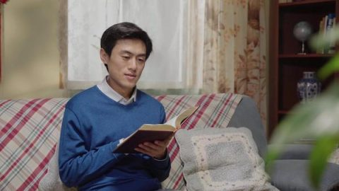 A brother is reading the Word of God
