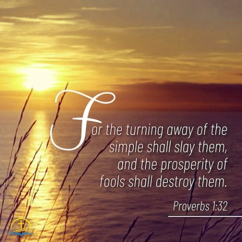 Daily Devotionals - Proverbs 1:32 - The Prosperity of Fools