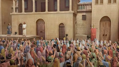 Jews follow the Pharisees to convict the Lord Jesus