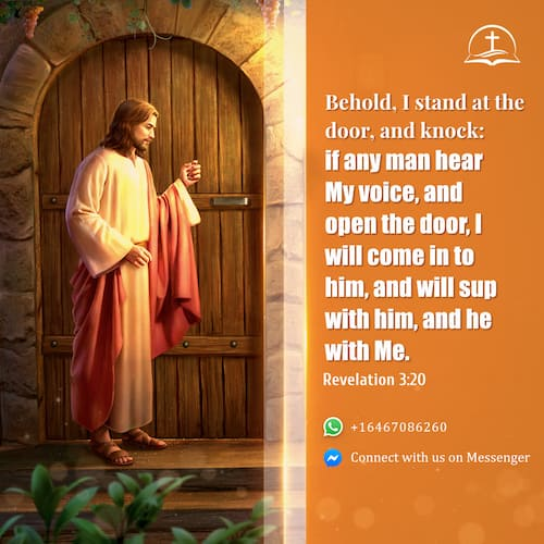 Today's Bible Verse, I stand at the door and knock - Revelation 3:20