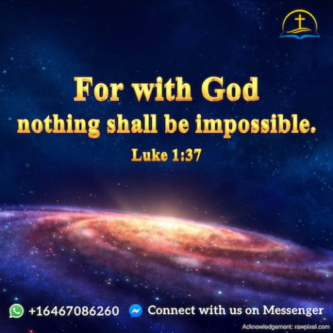 Luke 1:37 - God's Words Have Authority and Power