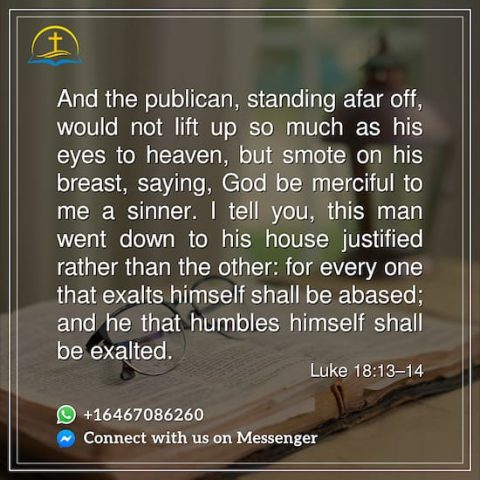 Bible Quote - Luke 18:13-14