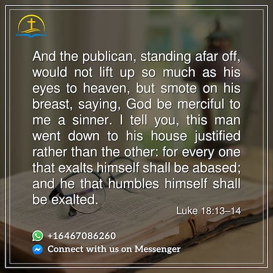 Luke 18:13–14 – The Prayer of the Publican – Bible Quote
