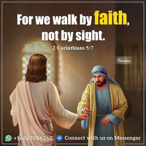 2 Corinthians 5:7 - Bible Quote