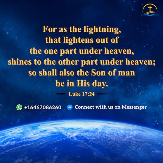 Luke 17:24 - Bible Quote
